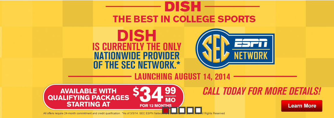 Get SEC Network with DISH Network